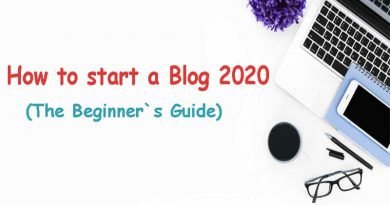 How to start a Blog 2020